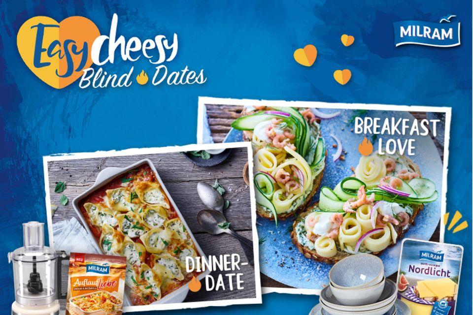 Gewinnspiel: Gewinne mit MILRAM ein Cooking Set für dein EASY CHEESY BLIND DATE