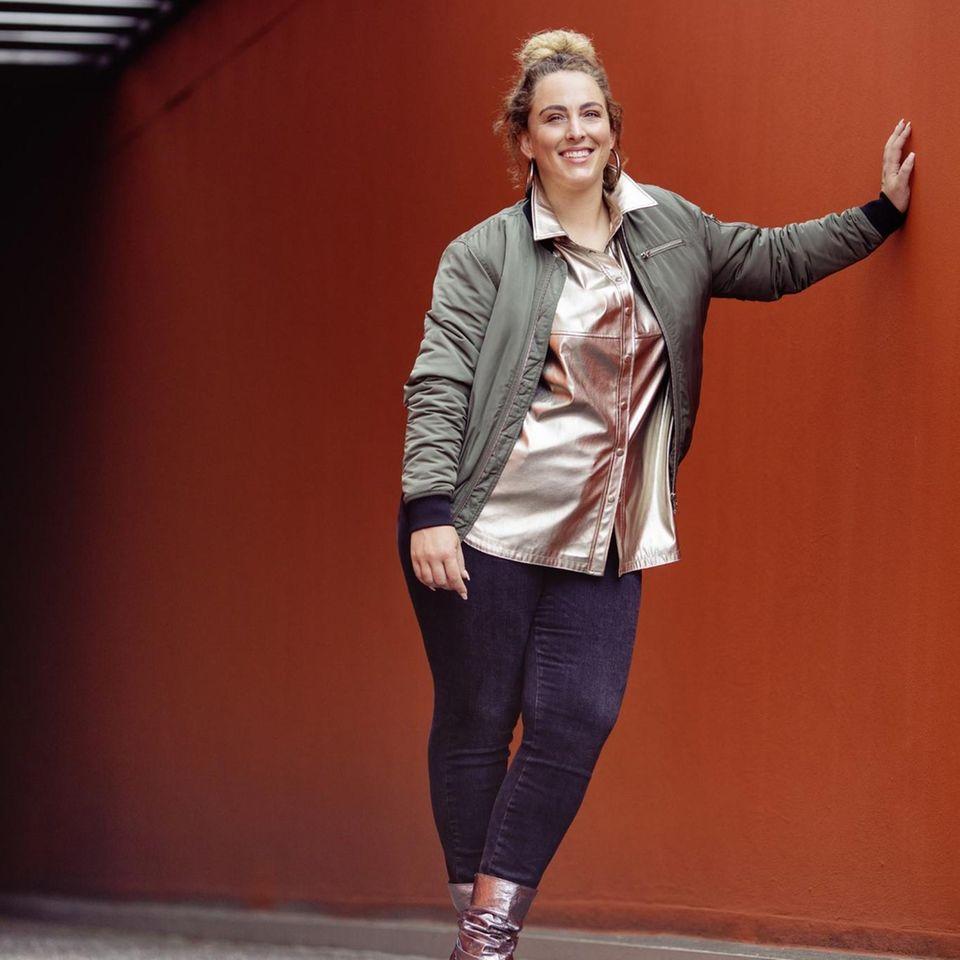 Style Challenge: Bomberjacke lässig mit Jeans